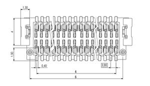 Dimensions Zero8 plug straight unshielded 12 pins